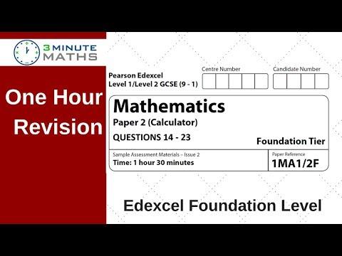 Edexcel Foundation Paper 2 Calculator Revision - Questions 14 - 23