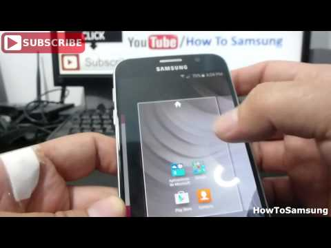 How to change the screen wallpaper Samsung Galaxy S6 Basic Tutorials