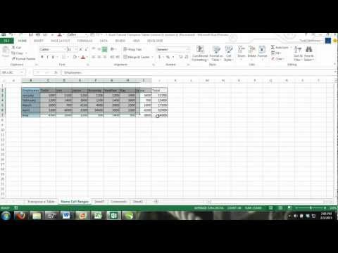 Excel Tutorial: How to Transpose a Table in Excel Change From Verticle to Horizontal 2010, 2013