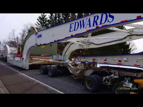 MONSTER TURBINE ESCORTED THROUGH CORTLAND NY