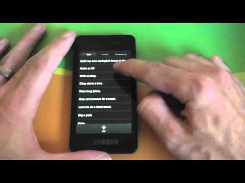 Scrolling On BlackBerry 10