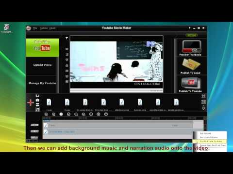 Make youtube video with Youtube Movie Maker