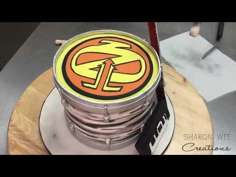 Musical Instrument Cake Tutorial - Celebrating Hanson's 25th Anniversary