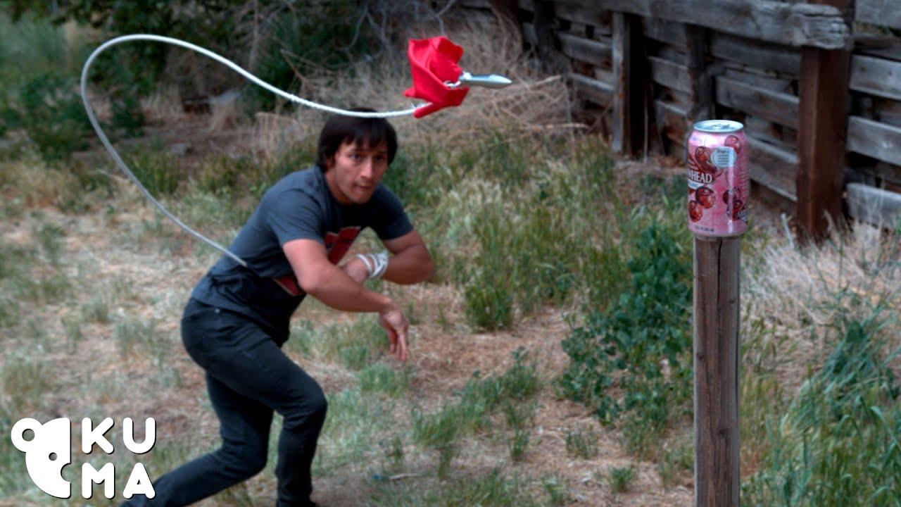 GET OVER HERE! Scorpion/Mortal Kombat Rope Dart Trick Shots 2