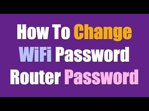 How to change wifi password - Router Password
