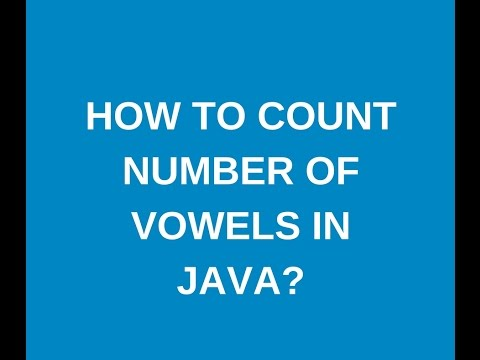 How to count number of vowels in a string in java?