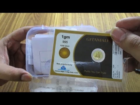 Unboxing 24k Gold Coin (Amazon India BUY)