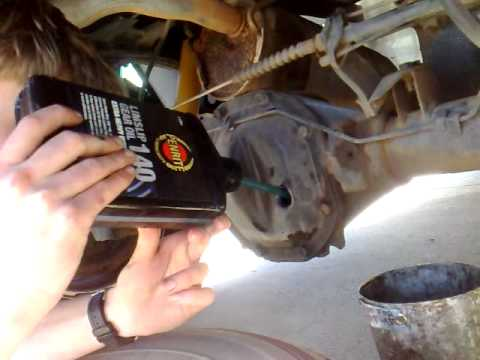 How to do an oil change in a car differential