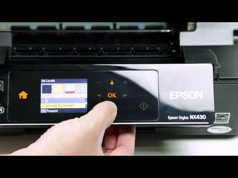 How to Install T124320 Compatible Ink Cartridges with Printer Epson NX430