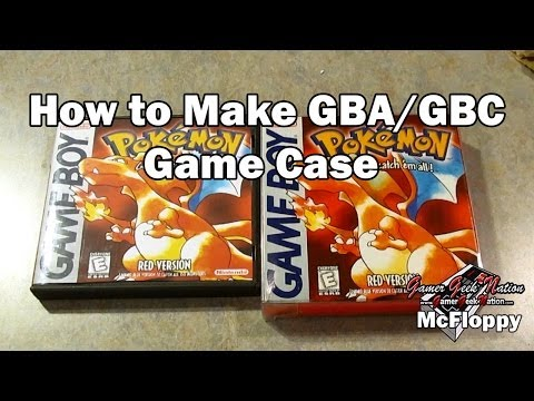 How to Make GBA/GB Game Cases