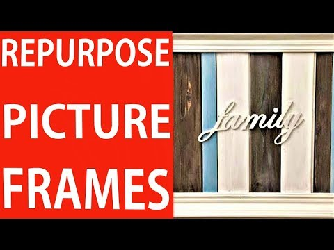 DIY How to Upgrade and Reuse an Old Picture Frame