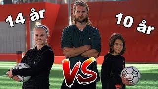14-ÅRIG PIGE VS 10-ÅRIG DRENG! HVEM VINDER?