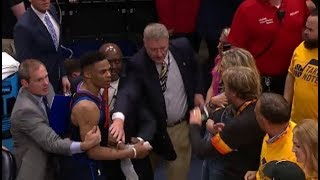 Russell Westbrook slaps Jazz fan