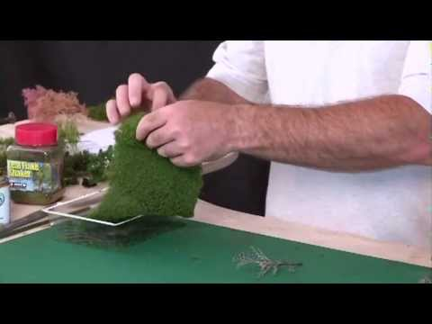 Tree Making Using Foliage Materials