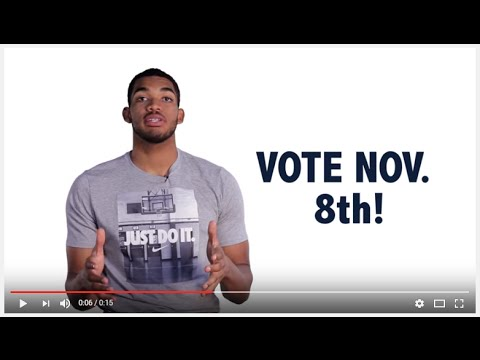 Minnesota Timberwolves: Get in the Game and Vote November 8