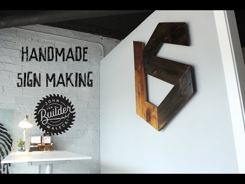 Make a Handmade Sign From Reclaimed Wood