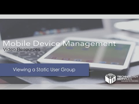 Viewing a Static User Group