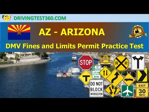 Arizona DMV Fines and Limits Permit Practice Test (hardest) -  AZ DMV practice test