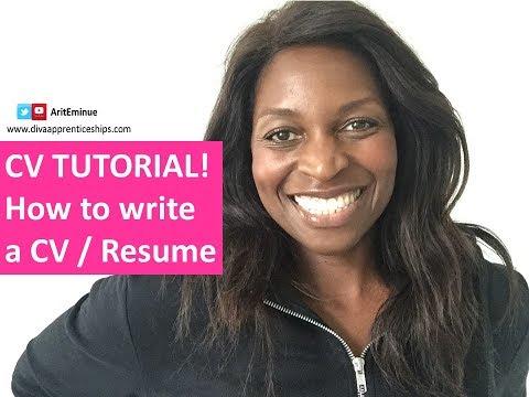 CV Tutorial - How to Write a Resume/CV