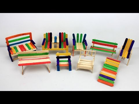 Popsicle Stick Chairs Collection #1 | Easy and Quick Crafts ideas