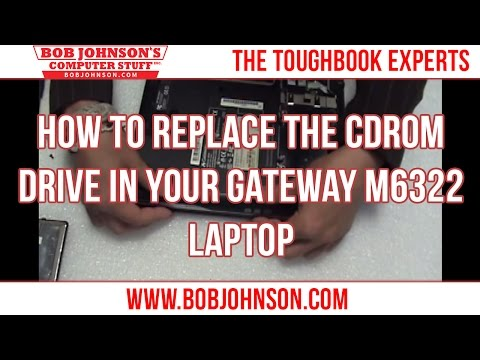 How to replace the CDROM Drive in your Gateway M6322 Laptop