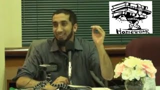 Do Your Homework! ┇FUNNY┇ Ustadh Nouman Ali Khan ┇Smile...itz Sunnah┇