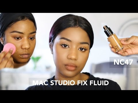 NEW MAC NC47 STUDIO FIX FLUID FOUNDATION | TALKOFBEAUTY XOXO