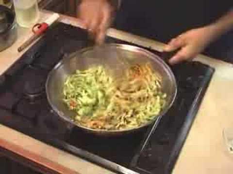 Green Cabbage and Pepper Stir Fry - Vegetarian Vegan
