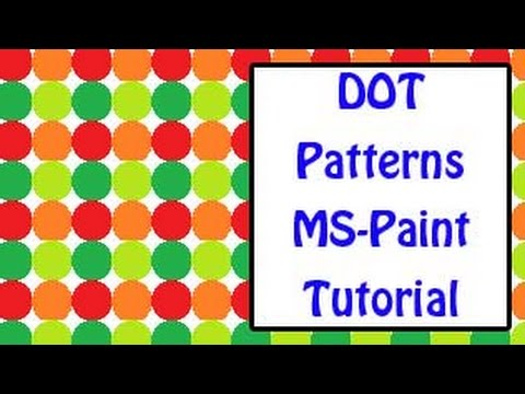ms paint tutorial   how to create beautiful dot patterns in mspaint win xp and win7