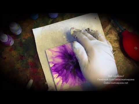 ALCOHOL INK FLOWERS- Soft, Wispy Effects by Deb Lestenkof, Alaskan alcohol ink artist