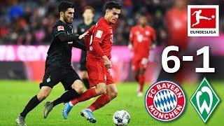 Coutinho's Best Performance & Lewandowski Brace I Bayern München vs. Werder Bremen I 6-1I Highlights