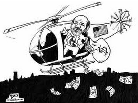Fed Will Continue To Print $85 Billion Per Month /Once Again I saw Bernanke in his Helicopter!
