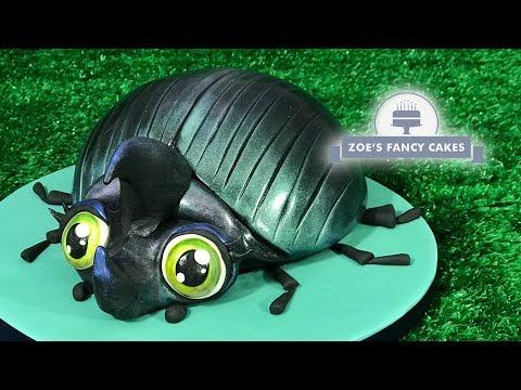 Beetle cake tutorial bug birthday cakes!