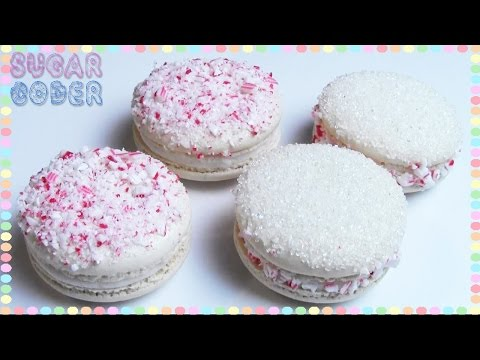 CANDY CANE MACARONS, CANDY CANE COOKIES - SUGARCODER
