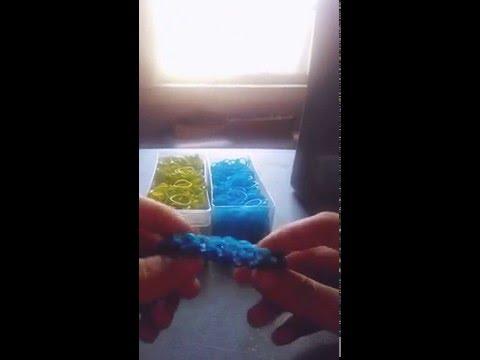 Dragon scale finger loom bracelete