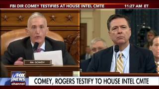 Trey Gowdy Stunning Confrontation With Comey! Part 1 And 2! Comey Looks Shook Up! Wiretapping Claims