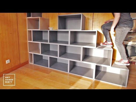 Loft Bed // Work Space : Staircase Shelf - Ep. 2