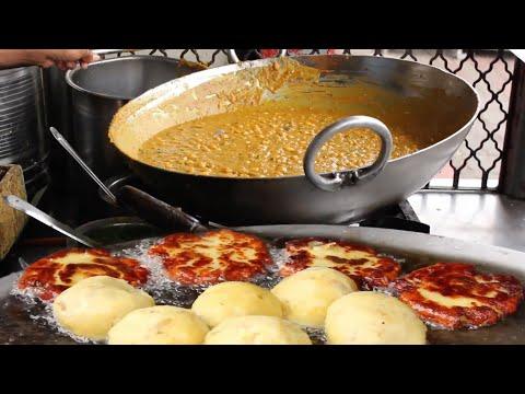अहमदाबाद का फेमस रगड़ा पेटिस वाला Arpit Ragda Petish Wala Ahmedabad Street Food With Recipe in Hindi
