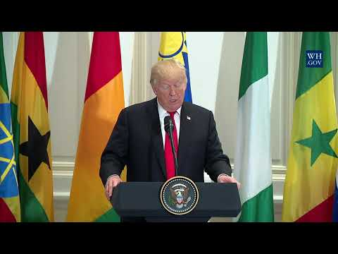 President Trump Attends a Working Lunch with African Leaders