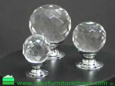 Crystal cupboard knobs in chrome polished finish