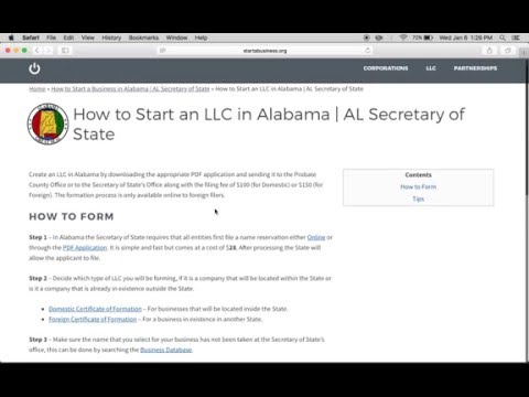 How to Start an LLC in Alabama | AL Certificate of Formation