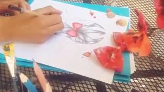 Time-Lapse Hair drawing