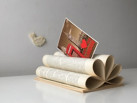 Letter Holder Made From An Old Book