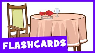Learn Dining Room Vocabulary | Talking Flashcards
