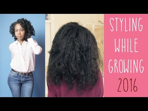 Styling while GROWING - My Hair's Progress