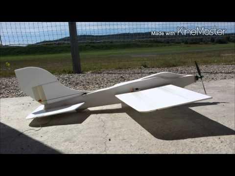 Homemade rc plane + 3D test