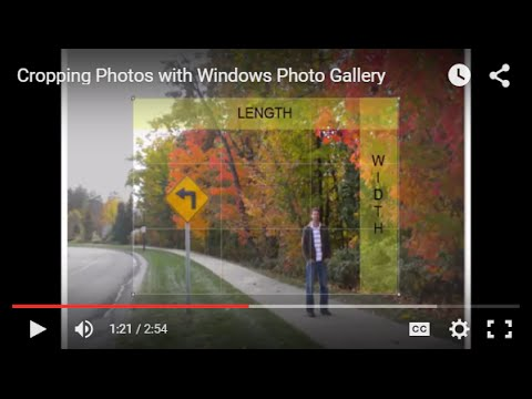 Cropping Photos with Windows Photo Gallery
