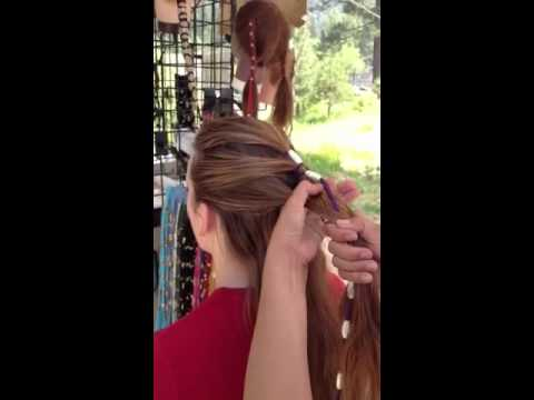 How to do hair with leather beaded hair accessory 2