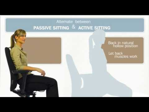 How to sit and stand up safely while working at your desk? (www.explania.com)