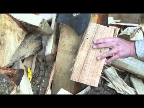Green woodworking - How to make shingles / Making Wooden tiles